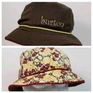 Burton Brown Yellow Reversible Bucket Hat Sun Hat